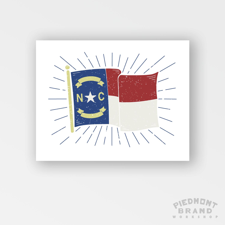 NORTH CAROLINA FLAG ART PRINT