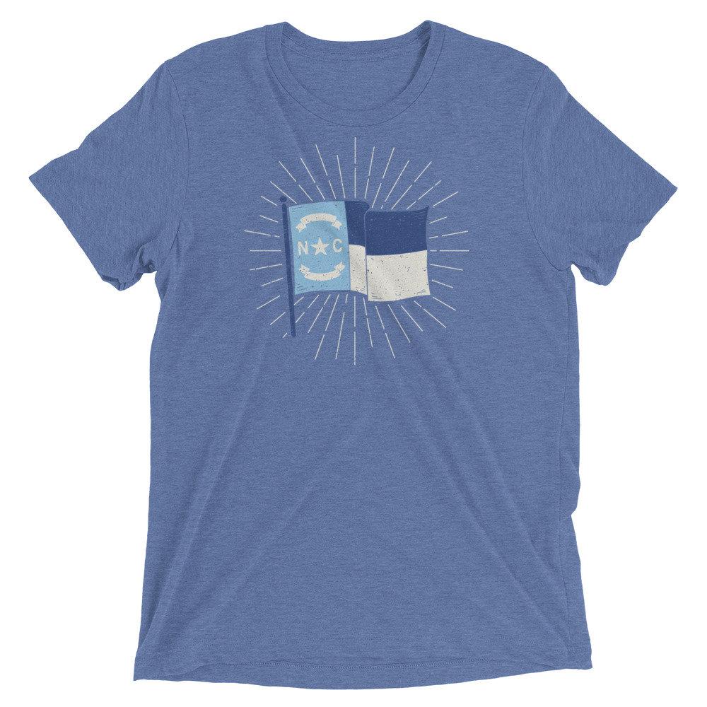 CAROLINA BLUE NC FLAG T-SHIRT