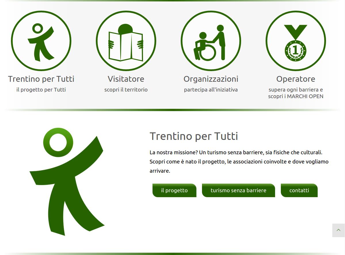 Trentino per Tutti  - Il progetto di comunicazione web