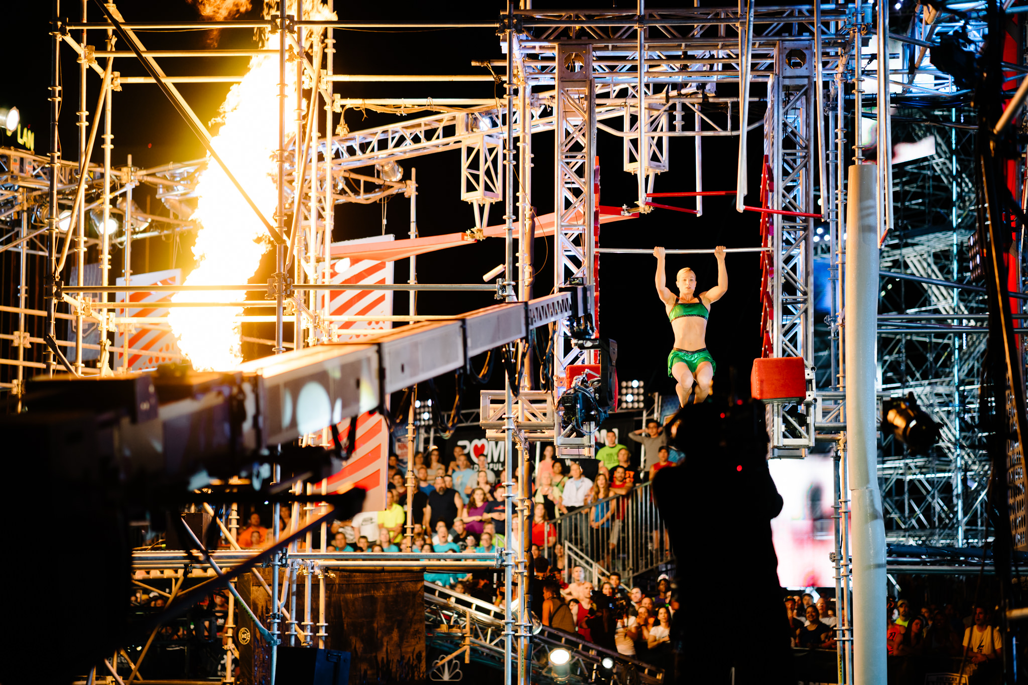 NBC's  American Ninja Warrior   | Season 8  The direction for Season 8 was to document an up close account of the production & behind the scenes aspects of the show, including athlete interviews, pre-run portraits, warm-ups, & in action on the course.