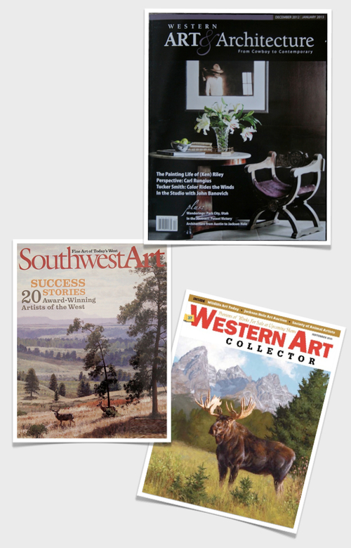 Publications - Western Art & Architecture Featured Artist August 2011Western Art Collector Art of the New West September 2010American Art Collector Traditional Artist Focus March 2010Southwest Art Emerging Artist, January 2010American Art Collector Great American Figurative Artist Exhibition November 2009American Art Collector Introductions February 2009