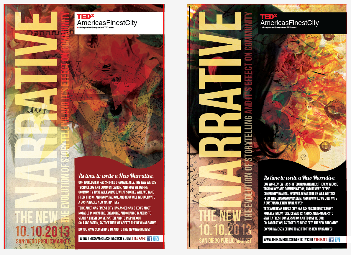 TEDX NEW NARRATIVE FLYERS