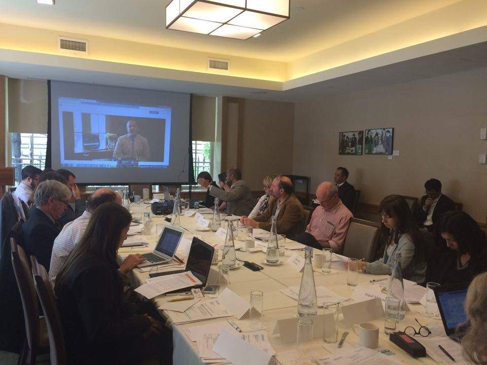 Reza Pourvaziry, President, International City Leaders, delivering video speech during the meeting