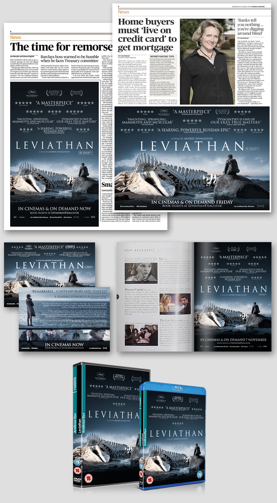 OOH Including 4 sheets, Exhibitor Formats,Multiple Press Executions, Online, DVD and Blu-Ray Packaging