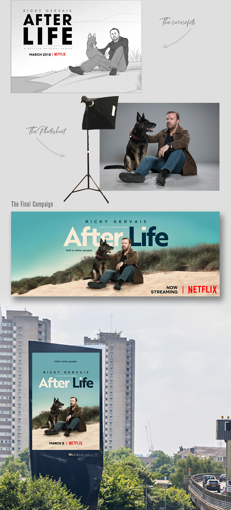 Key Art Process from Sketch - to Photoshoot - to Finish