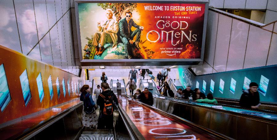 London Euston Escalator Wrap