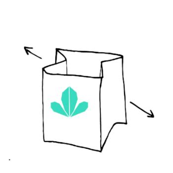 Gently unfold paper pots.