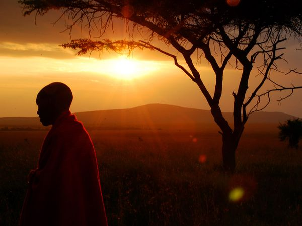 Sunset in Kenya - Impression from the Masai Tribe