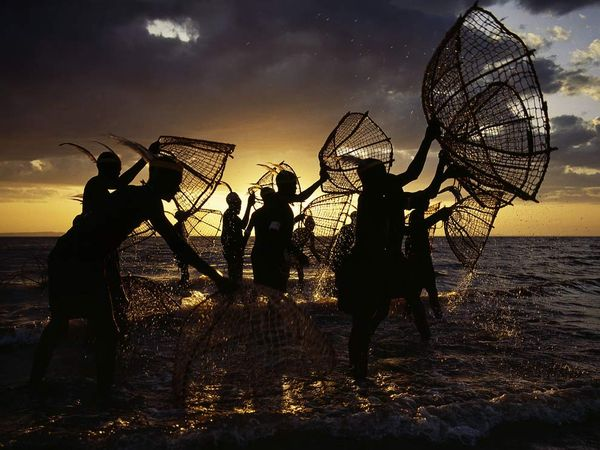 Kenyan Fishermen at Lake Turkana