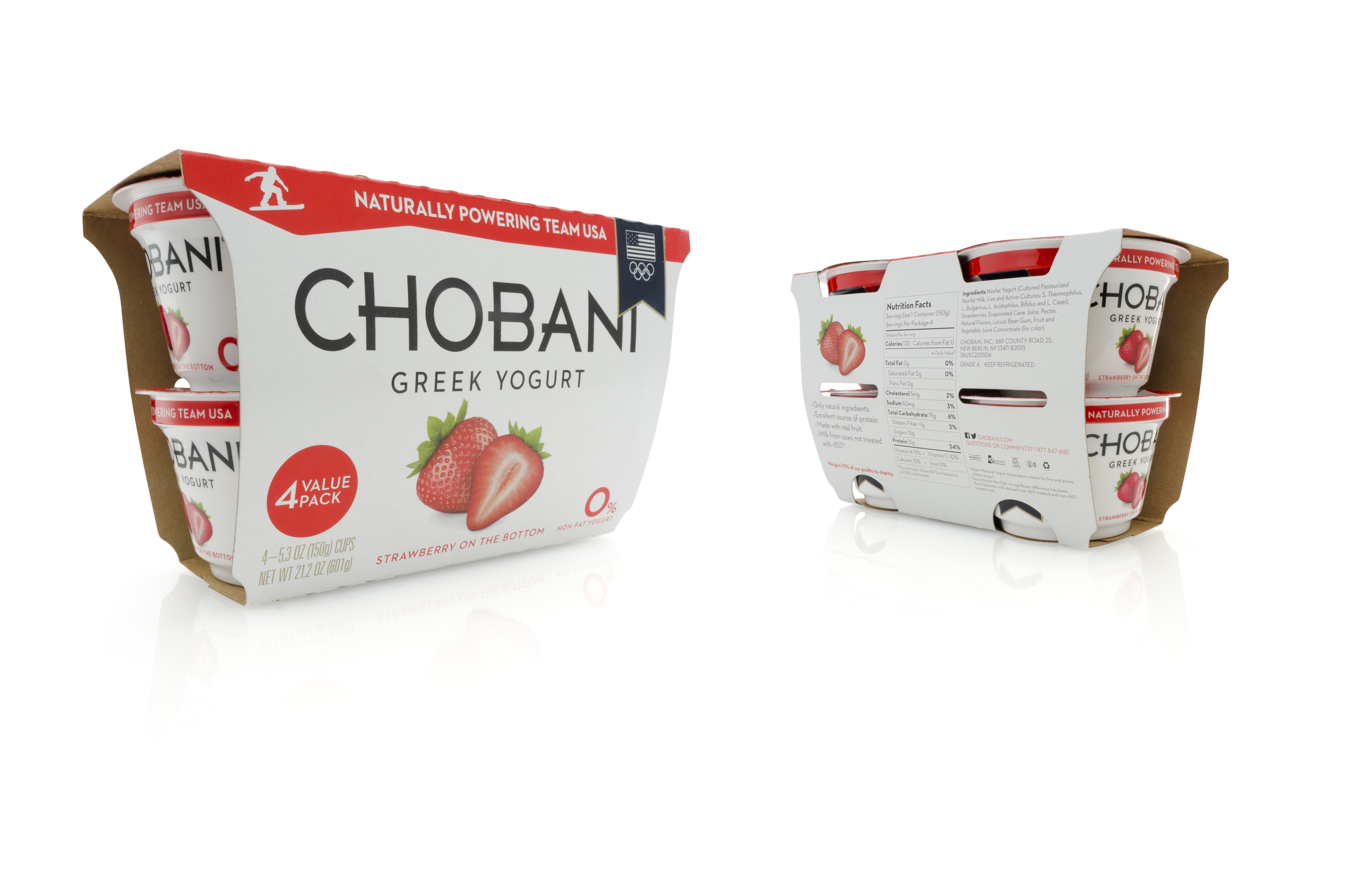 Chobani Structural Packaging Wrap