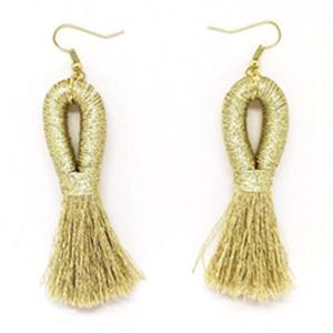 Mary Bret Pippa Tassel Gold Earrings