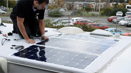 All Solar Flex kits come with mounting hardware, quick-connect MC4 cables and a PWM digital charge controller.