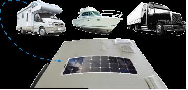 Solar Flex panels conform to curved surfaces.