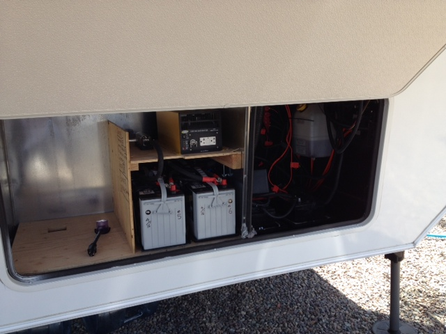 Batteries and inverter installed.