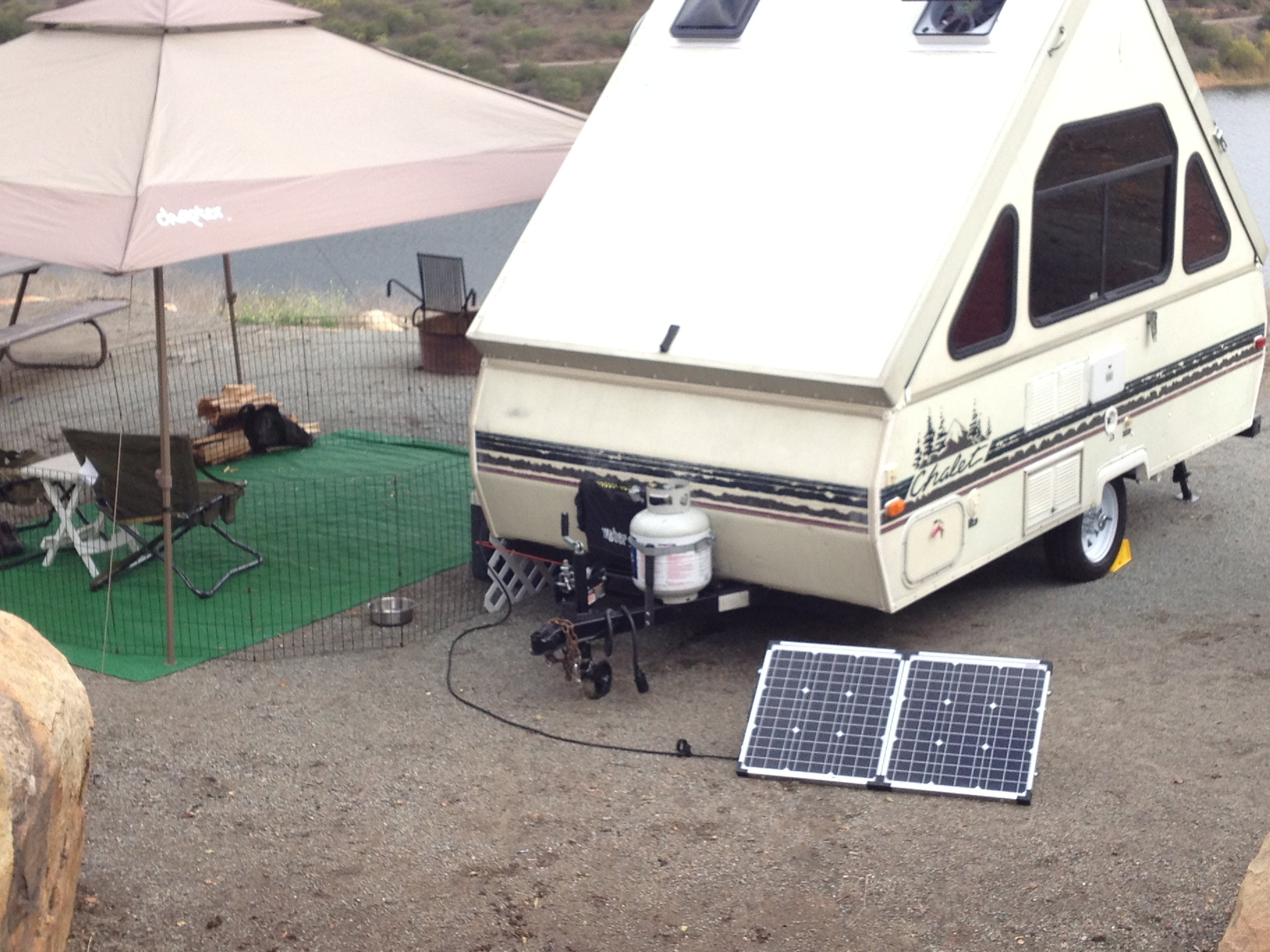 Portable 80 charging a Chalet.