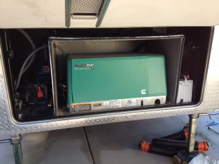 Inverter on the left, 2 out of 4 batteries on the right