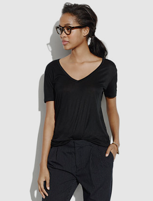 Madewell V-neck Slouch Tee. Click the image for pricing & details.