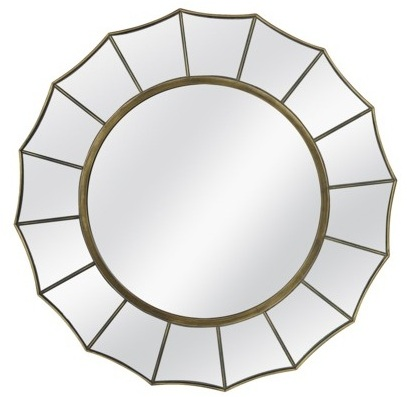 I love a good starburst mirror. This is actually the one we have hanging above our sideboard. Click image for pricing & details.