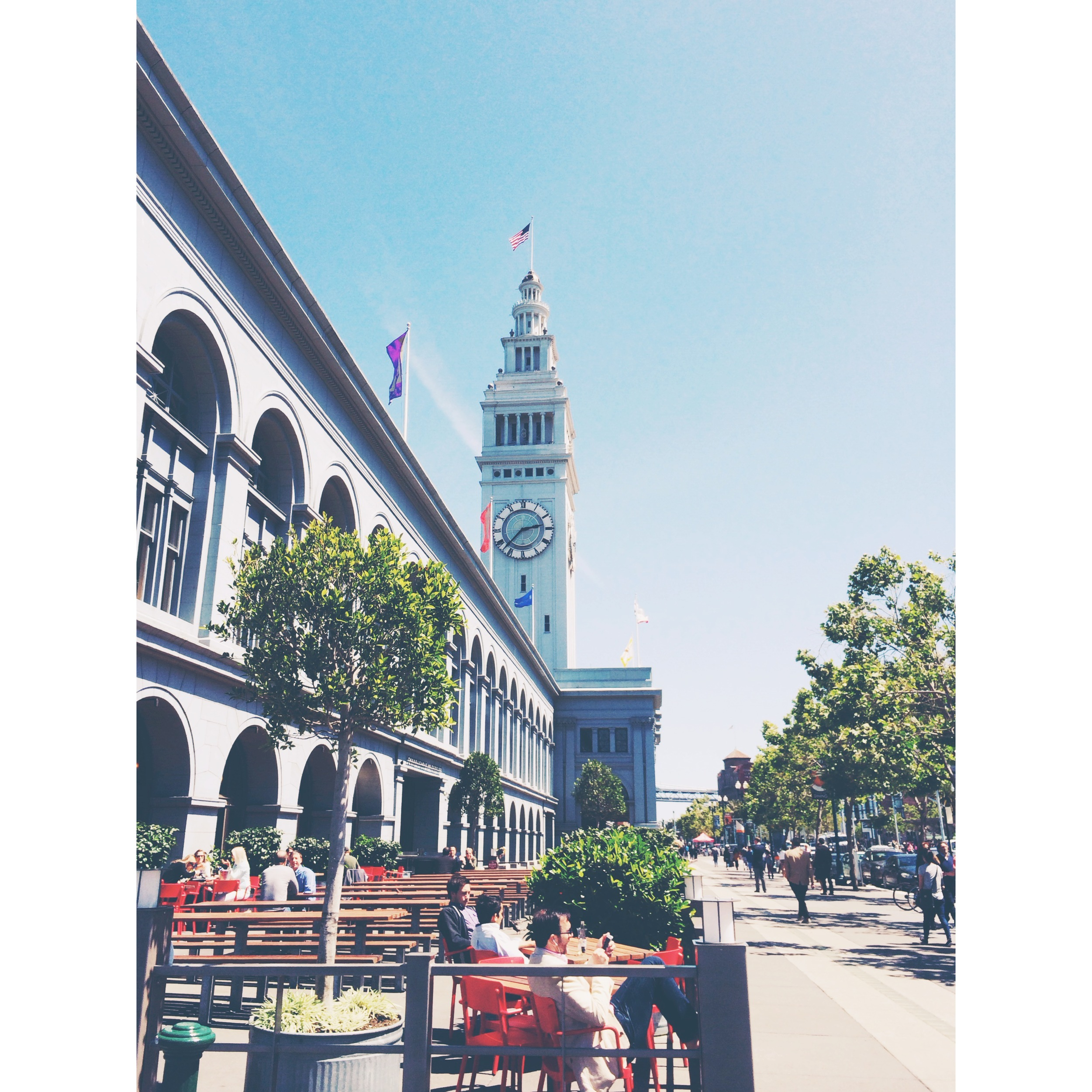 The  Ferry Building , built in 1898, was once the main transportation hub of the city. Today it's a bustling marketplace inhabited by some of  San Francisco's finest retailers, i ncluding  Heath Ceramics ,  Cowgirl Creamery ,  Blue Bottle ,  Farm Fresh To You , and so many others!