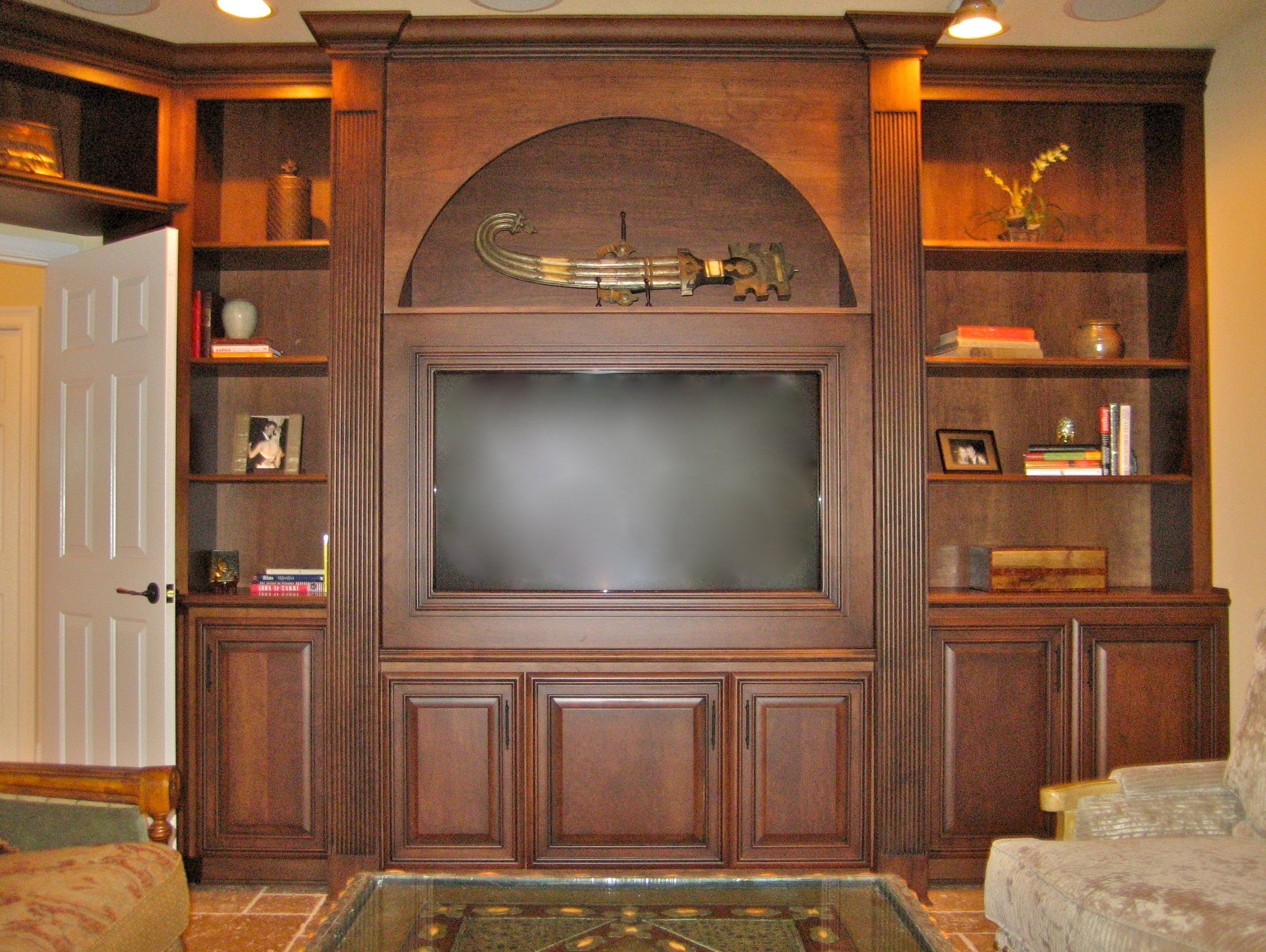 Bookcase - Media Center.JPG