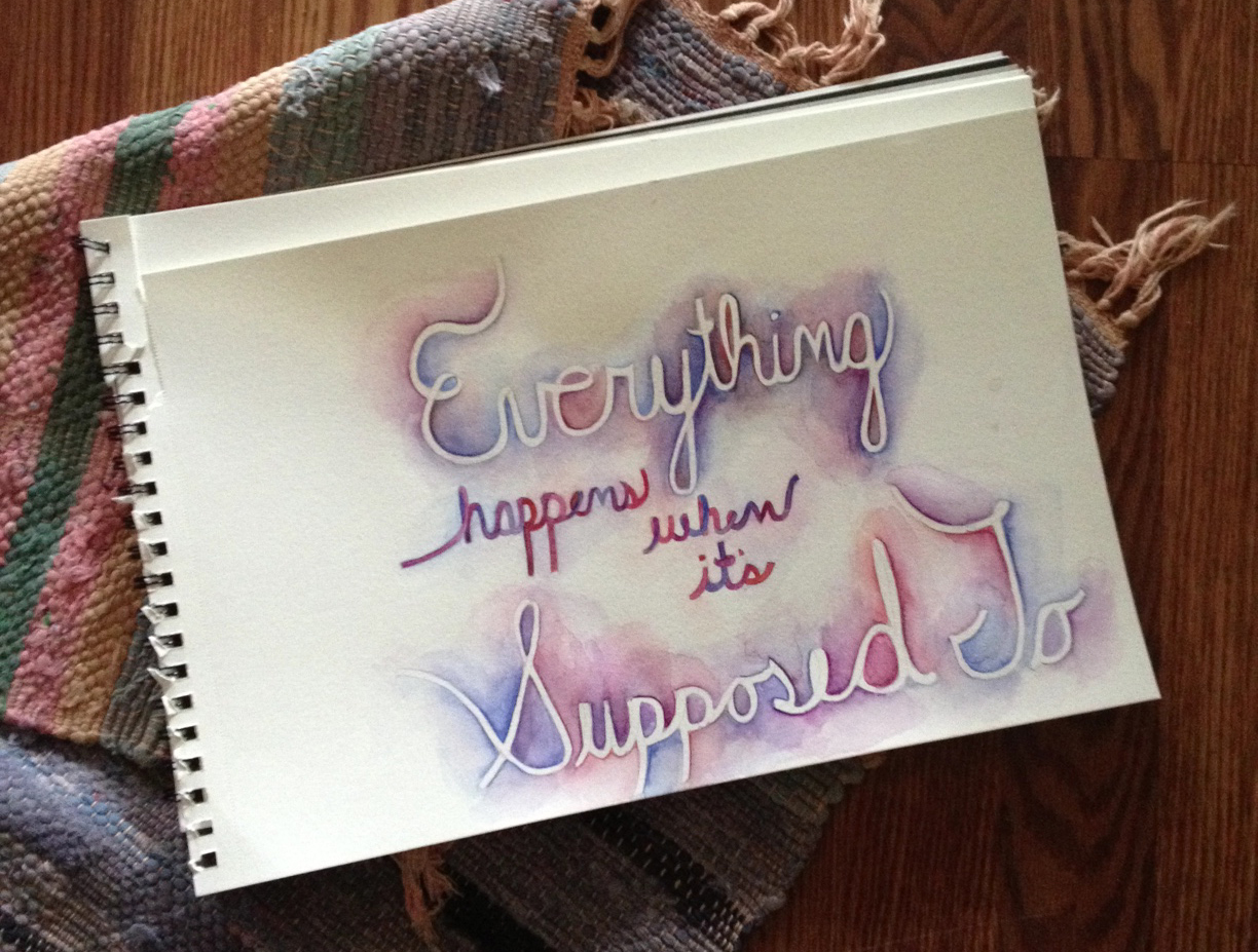hand-lettered watercolor by me