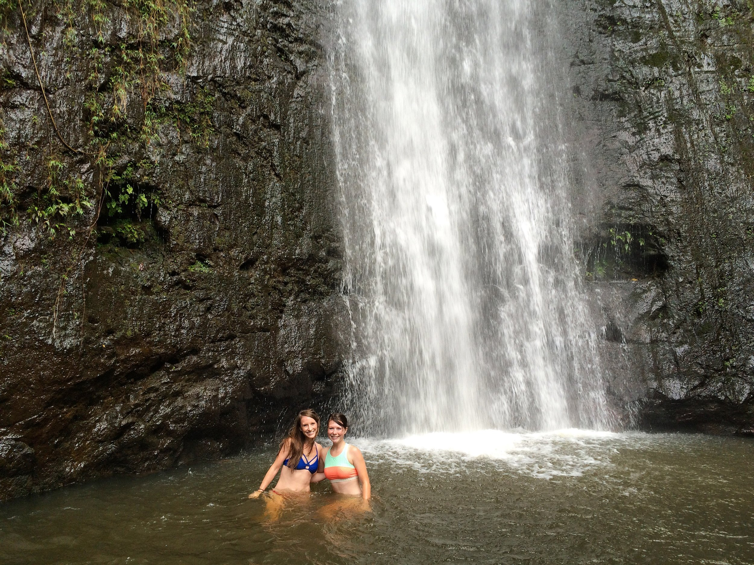 We chased waterfalls.