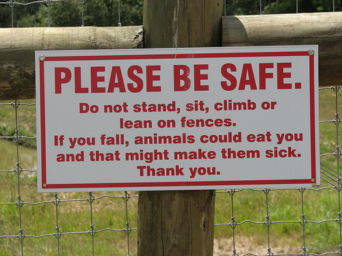 An important safety message is conveyed using humor in a way that will save human lives and prevent harm to animals.
