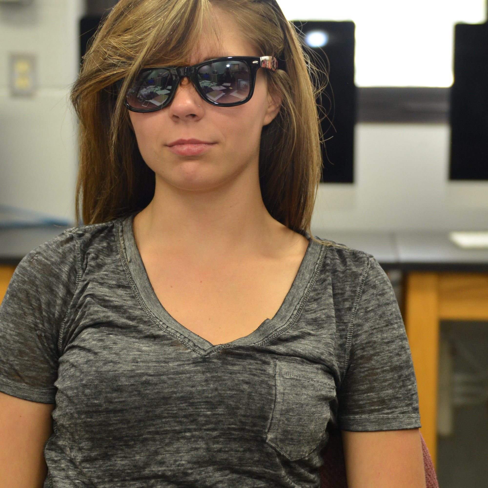 Student looking cool