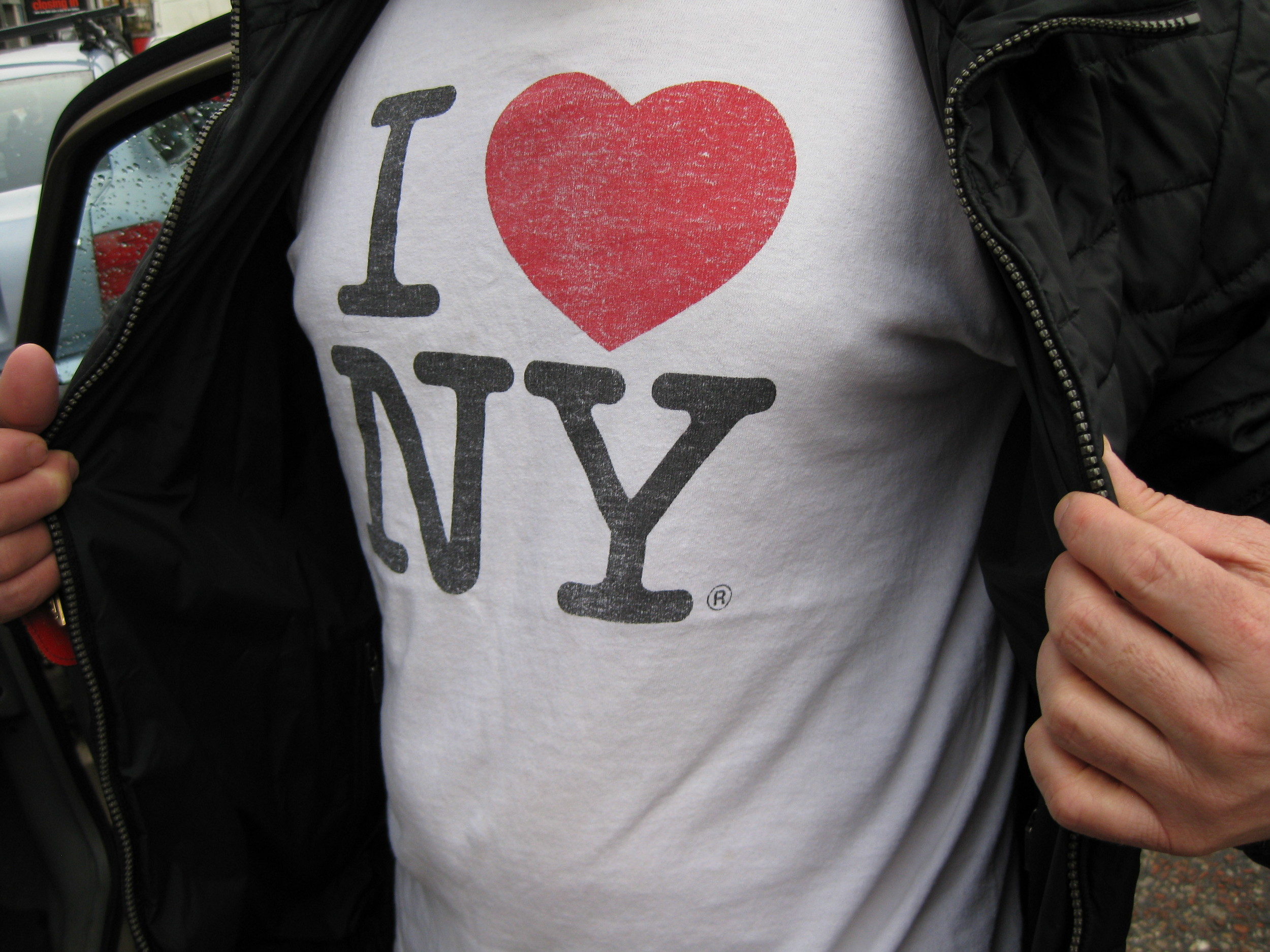 An iconic design,  I Love New York , is right at home on someone's favorite shirt.