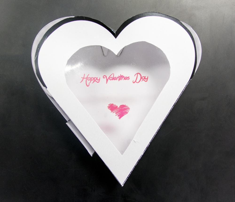 valentines box with window design