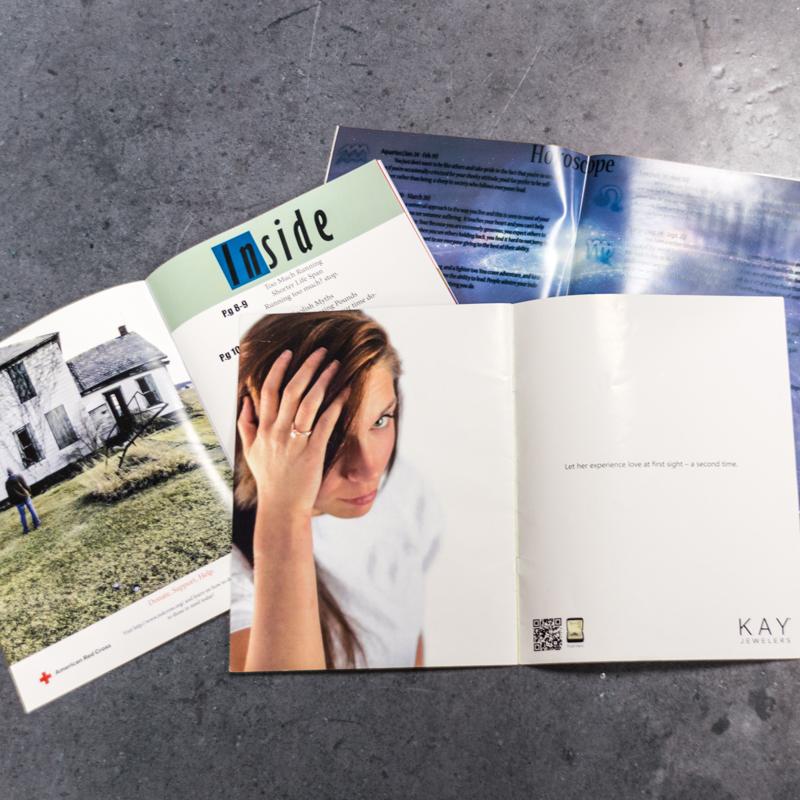 various magazine spread designs