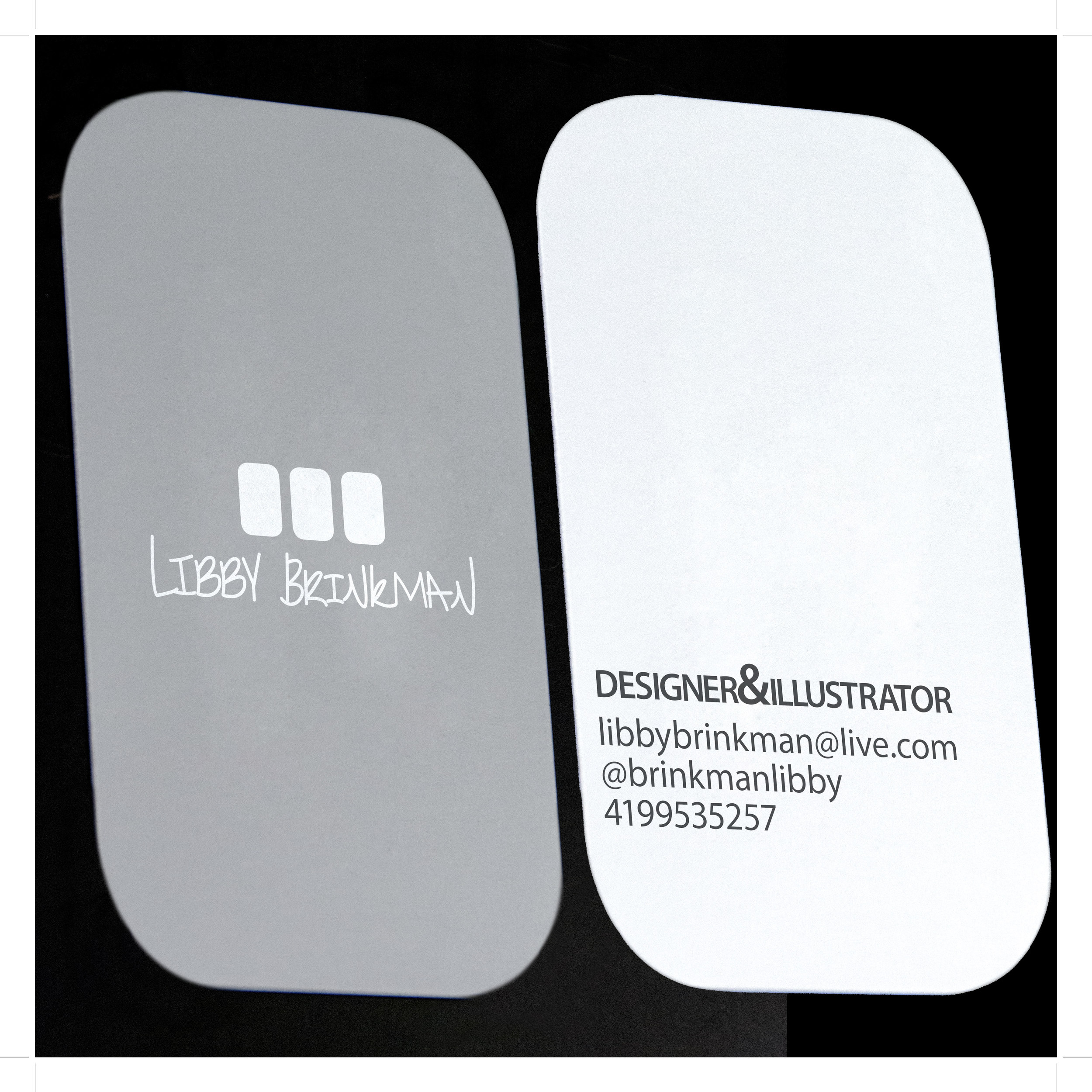 business card and logo design in silver
