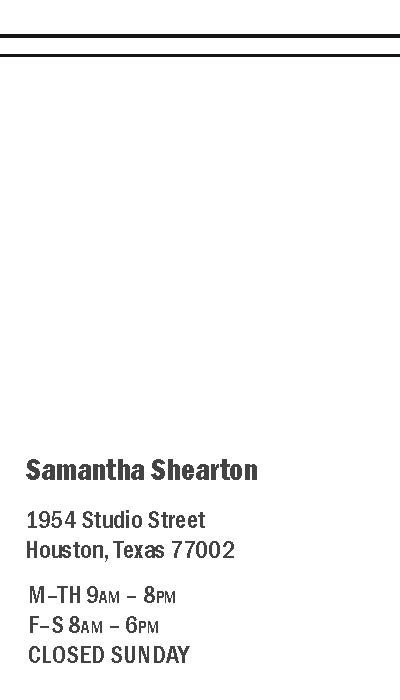 salon business card back