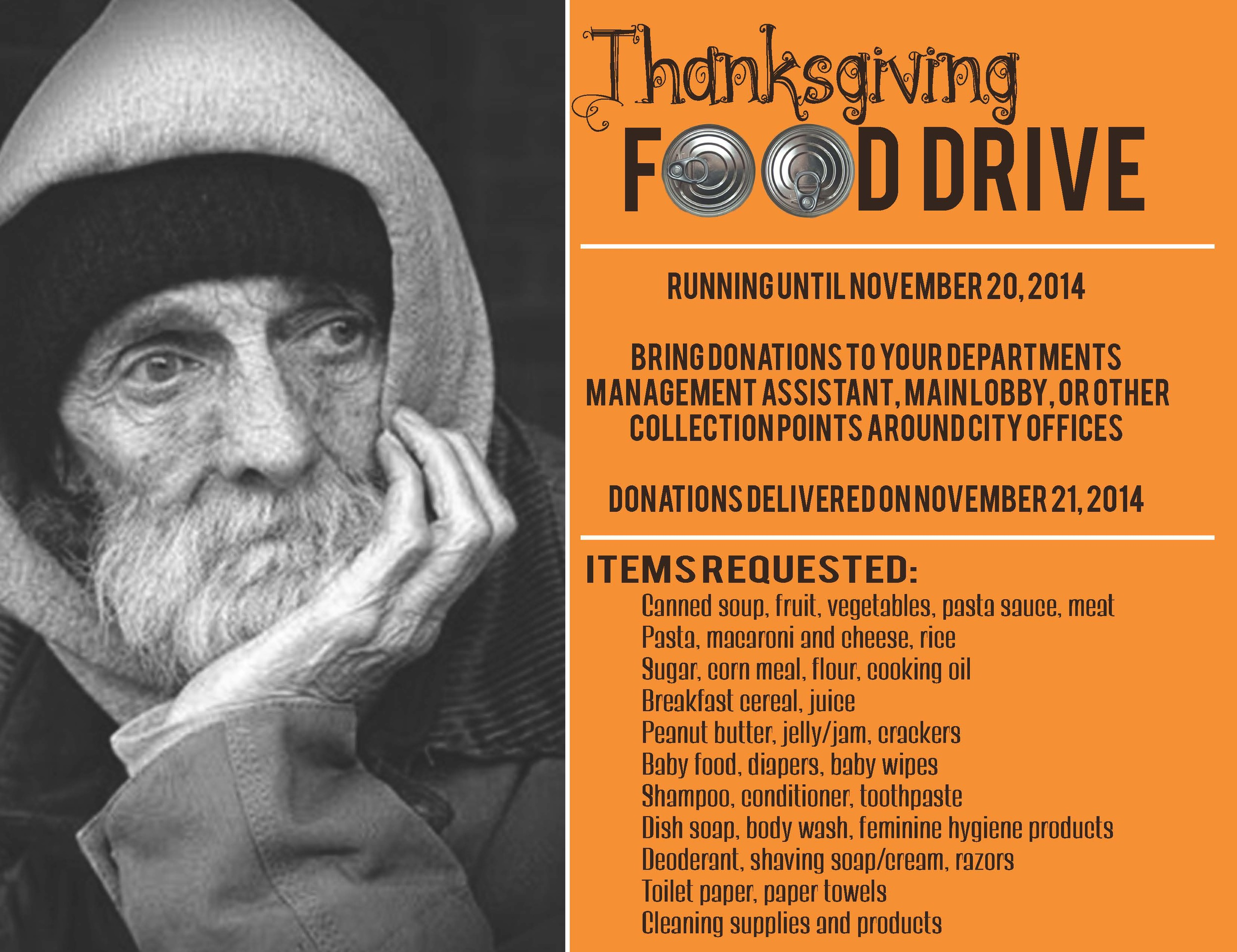 food drive poster design