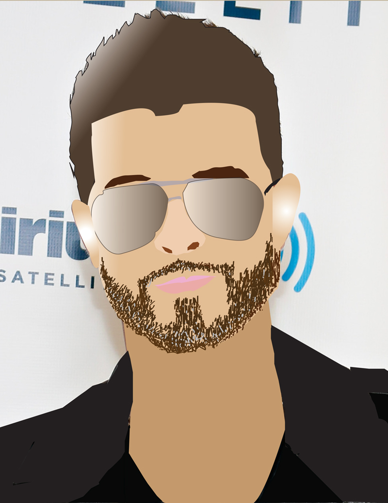 illustration of famous musician