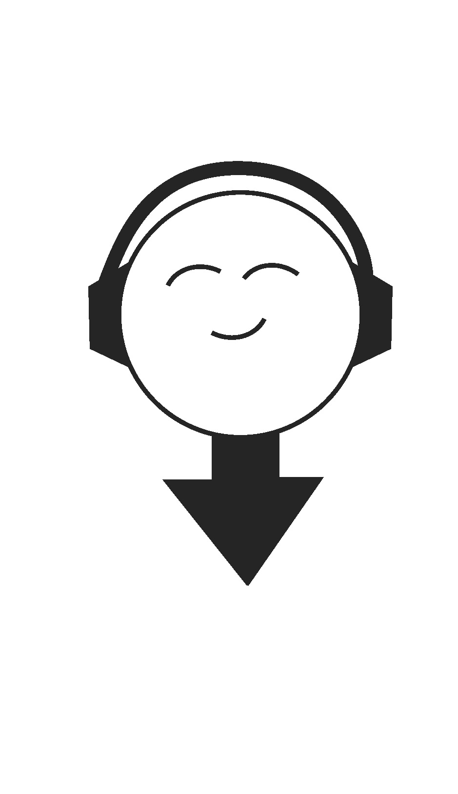 music app logo illustration