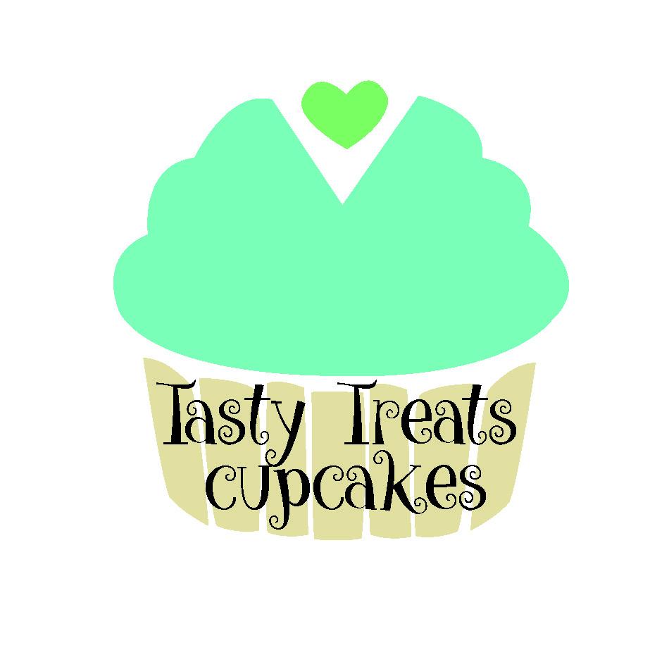 tasty treats cupcakes logo illustration