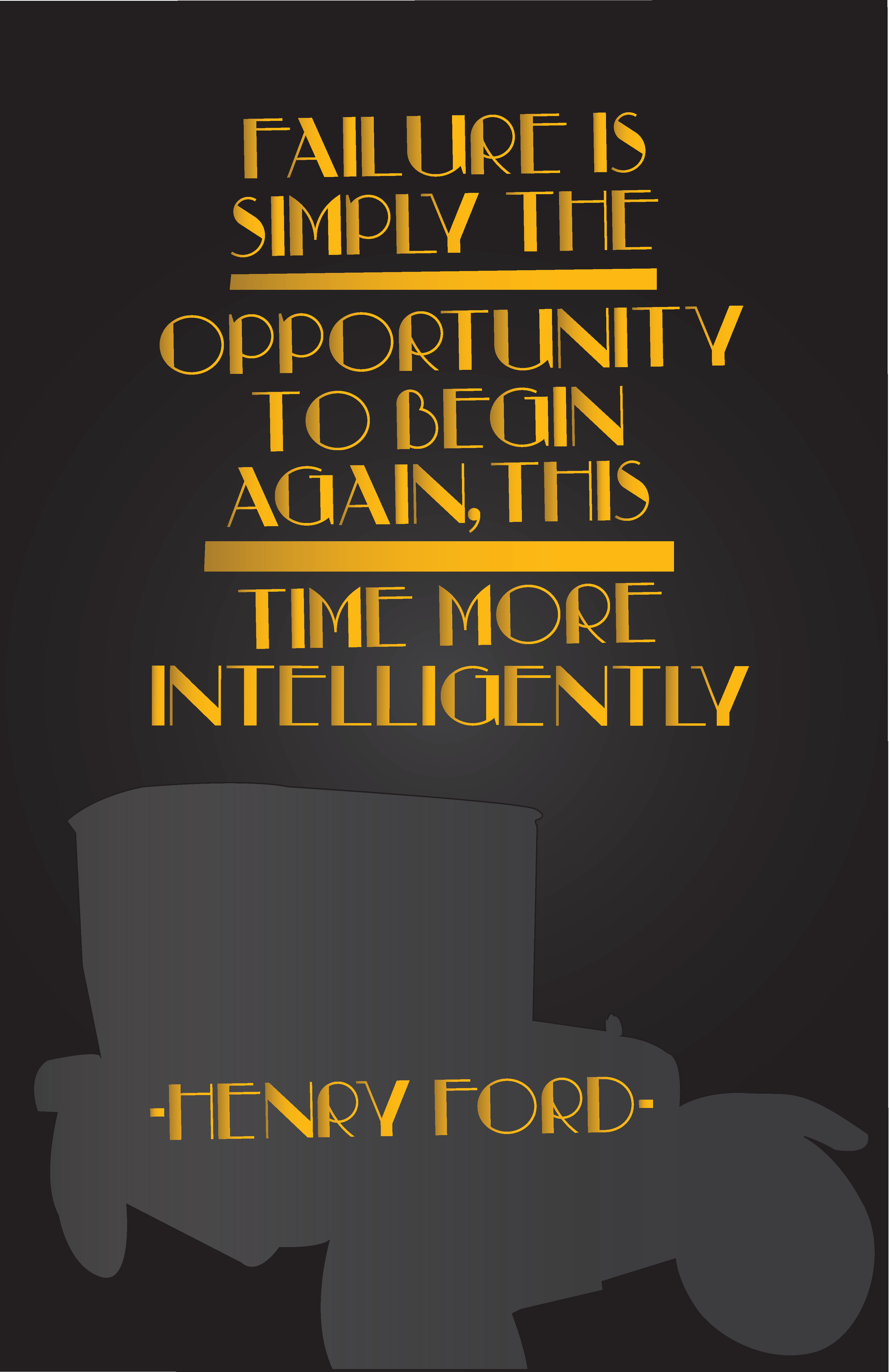 Henry Ford Quote Poster