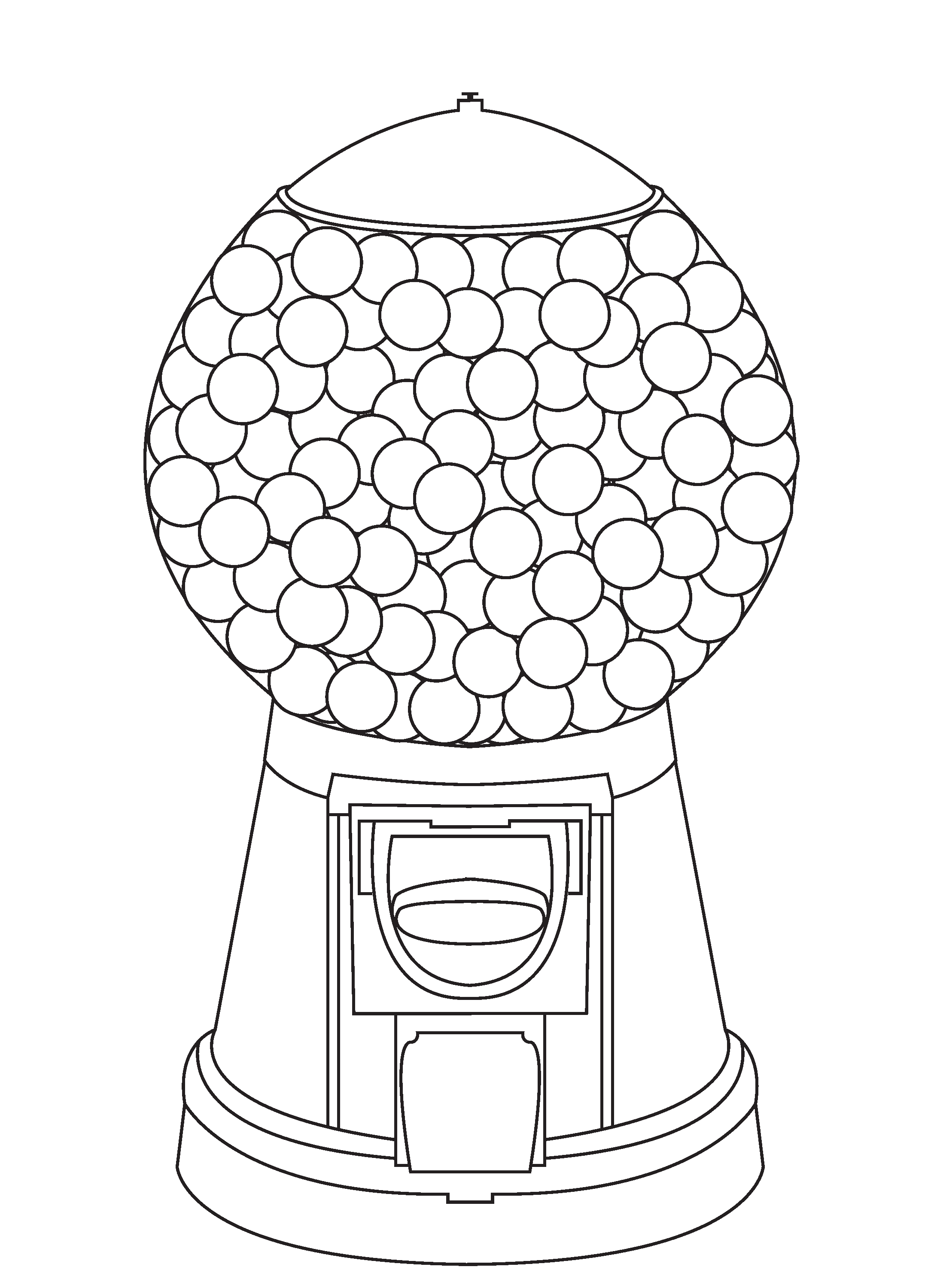 Gumball Machine Coloring Page
