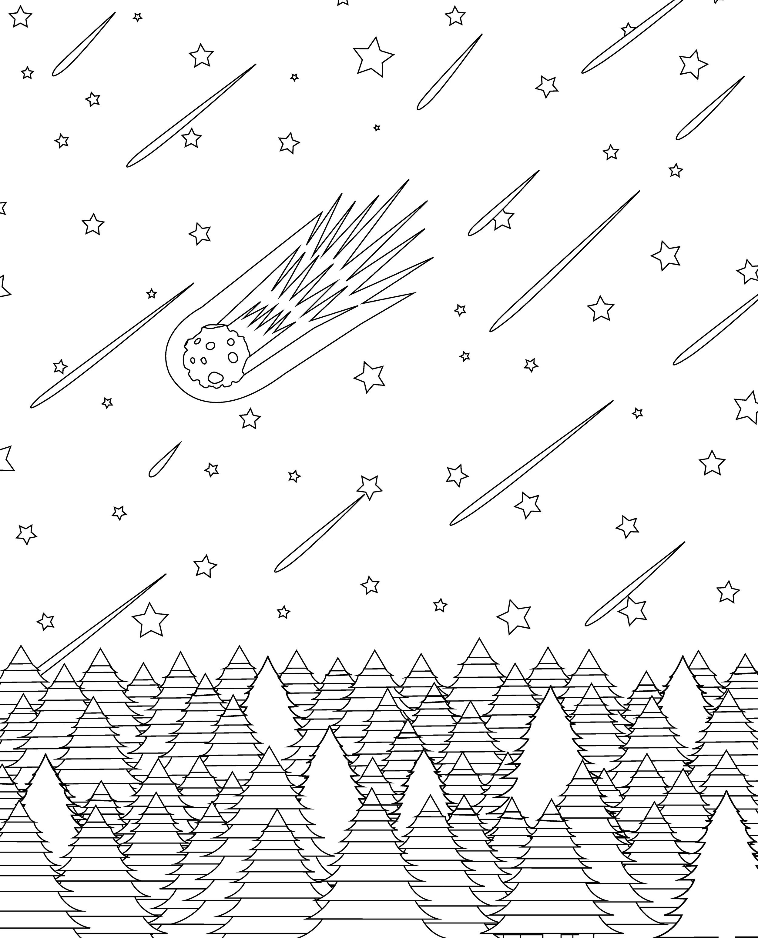 Comet Coloring Page