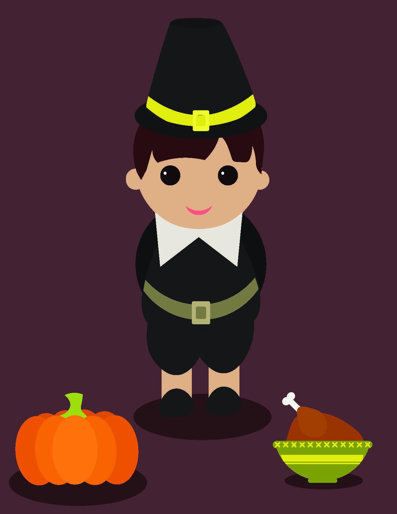Thanksgiving illustration from tutorial
