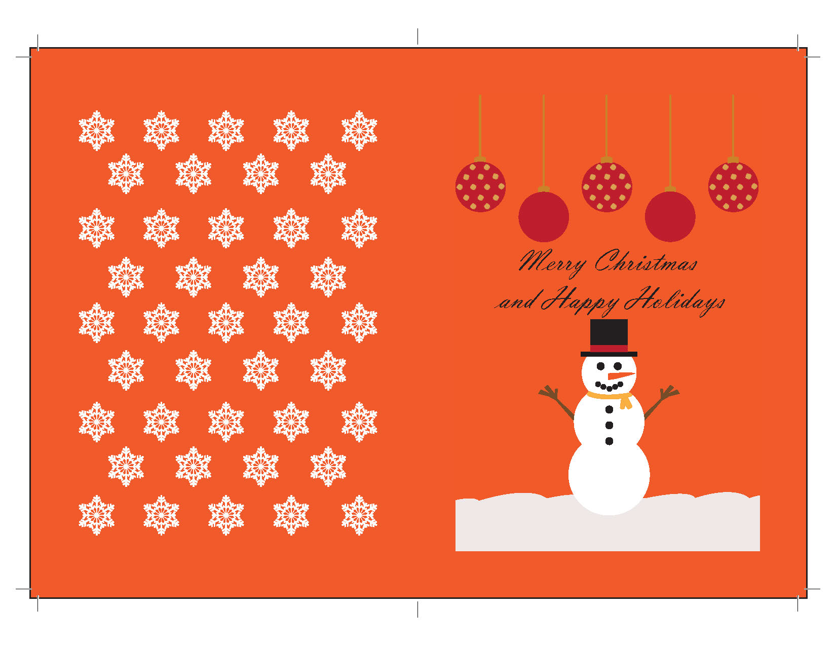greeting card outside
