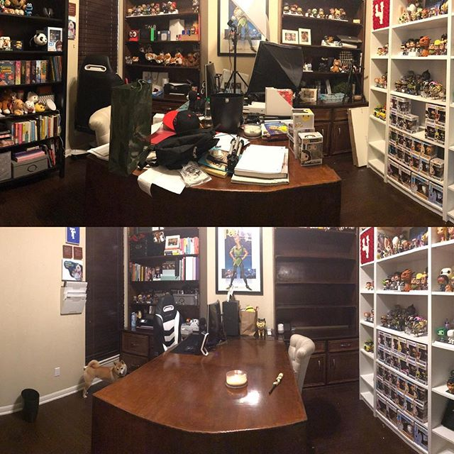 Spent all day yesterday cleaning my office. Felt good to have a clean area to work in.