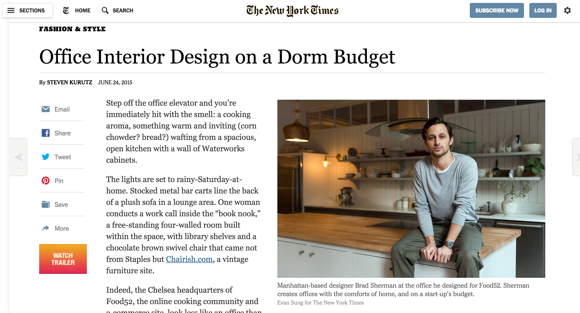 THE NEW YORK TIMES, JUNE 2015