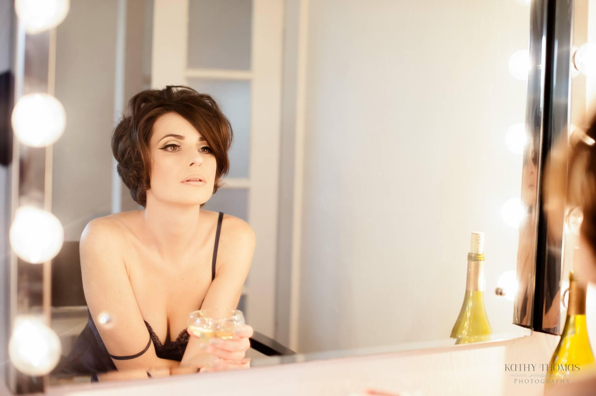 Hair and Makeup: Lauren Walsh  Photographer: Kathy Thomas  Location: True Love Makeup Studio