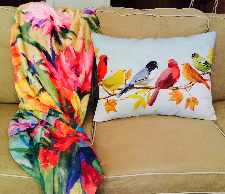 Fleece throw & pillow