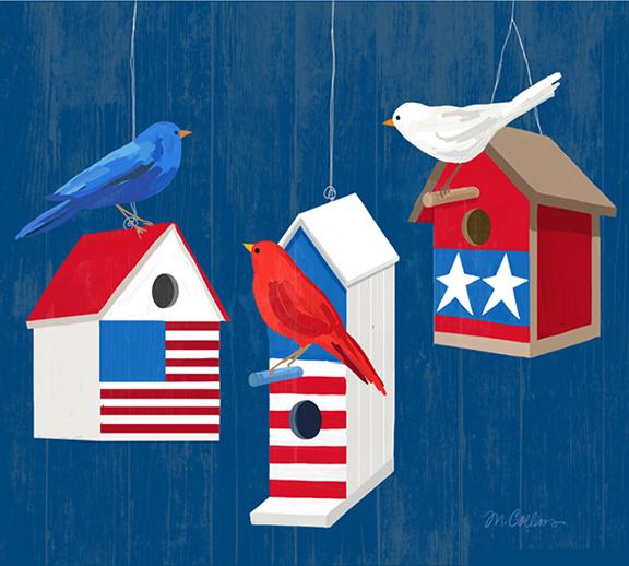 Americana Birdhouses 2 Dark Blue Bkgd..jpg
