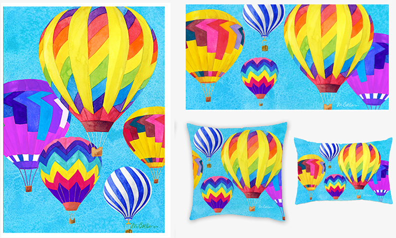 Hot Air Balloons collection & pillows.jpg