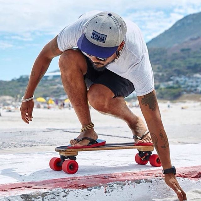 Brand Amabassador Kent Lingeveldt from Cape Town, South Africa riding his red 78a 70mm Kryptonics in a campaign shot for flip flop brand Havaianas a few weeks ago. #kryptonics #alphalongboards #kryptonicswheels #kentlingeveldt #skateboard #longboard #southafrica #capetown #havaianas