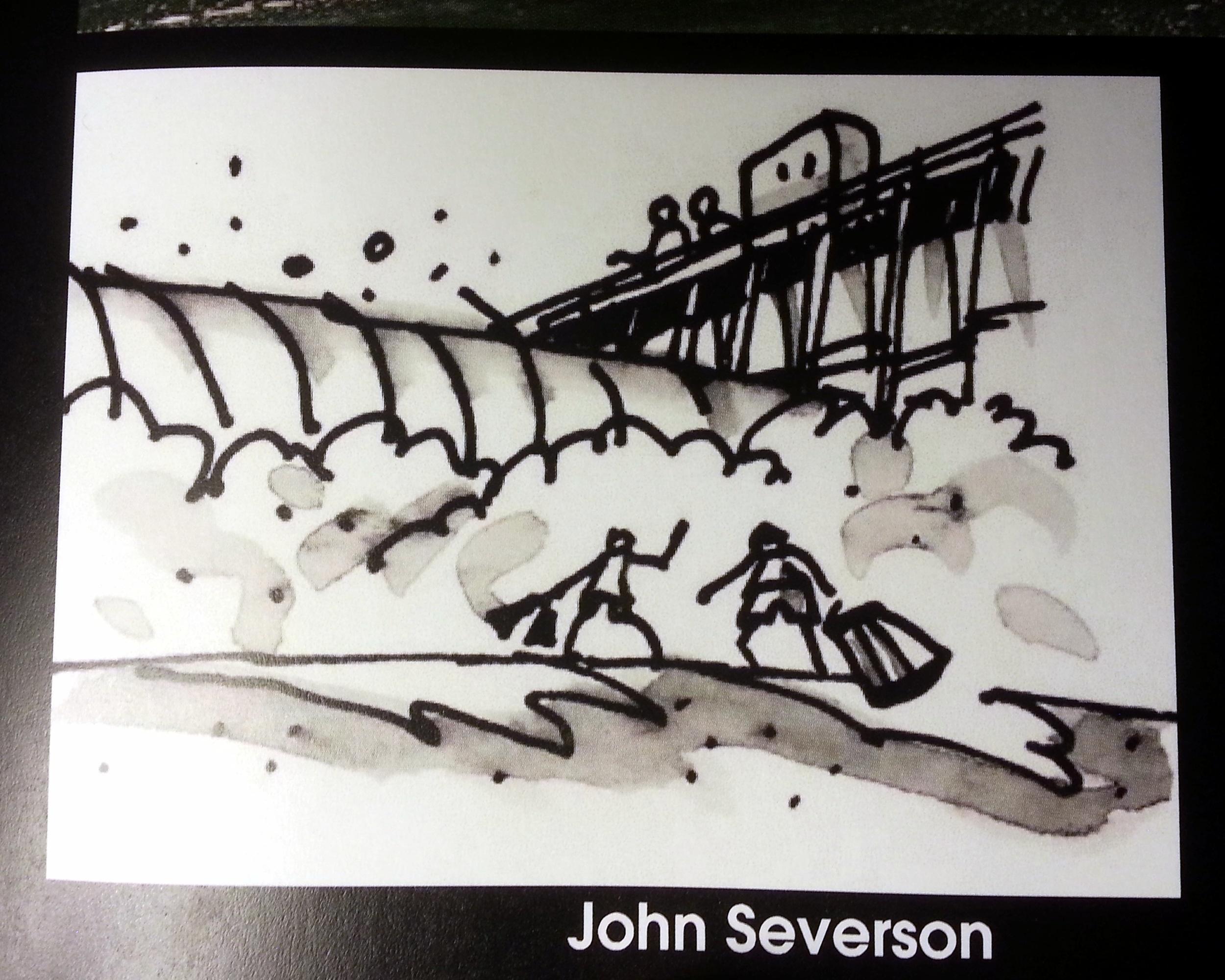 John Severson sketch in Spirit Matters photo:  Graeme Webster